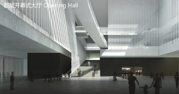 """""""而在博物馆内部,李立设想在主展区周围创造l型的公共空间,从而让人们"""